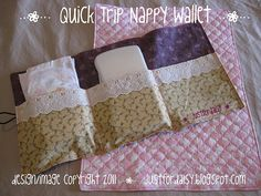justfordaisy: {Handmade} Nappy Wallet and Change Mat Baby Sewing Projects, Sewing For Kids, Sewing Ideas, Sewing Tips, Sewing Patterns, Nappy Wallet, Baby Gifts To Make, Play Ideas, Craft Ideas