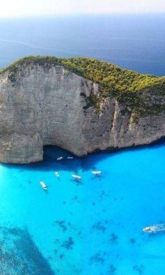 bluepueblo: Navagio Bay, Shipwreck Beach, Zakynthos, Greece photo via doug