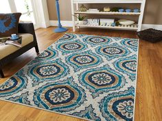 Large Rugs For Living Room 8x11 Coral Blue Beige Navy Gray Area Rugs 8x10 Clearance Under 100 Blue Rugs For Living Room >>> Click image to review more details. (This is an affiliate link and I receive a commission for the sales)