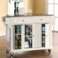 Crosley Kitchen Cart with Stainless Steel Top| Wayfair