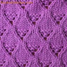 Lace basket knitting stitches 1