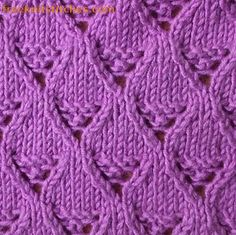 Lace basket knitting stitches 1
