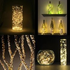 Das ist doch mal eine schöne Beleuchtung :) Und alles was du brauchst ist ein durchsichtiges Gefäß (z.B. eine Vase) und eine LED-Lichterkette Die findest du günstig hier: LE® 4er Pack LED Lichterkette, batteriebetrieben