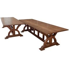 Unique Pair of Arts & Crafts Oak Library or Dining Tables | From a unique collection of antique and modern dining room tables at http://www.1stdibs.com/furniture/tables/dining-room-tables/