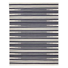 Aura Stripe Indoor/Outdoor Rug, 8x10', Navy