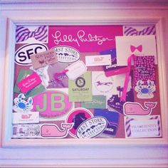 Planning to turn my bulletin board into this...A PREPPY BOARD!!!!