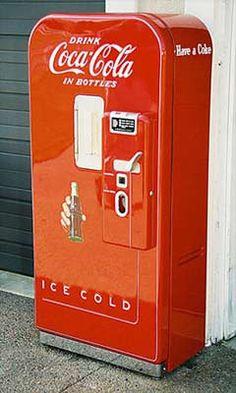 A Classic Coca-Cola Vending Machine