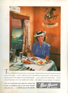 The New Haven Railroad Dining Car - c. Vintage Trains, Vintage Ads, California Zephyr, Transportation Posters, Vintage Travel Posters, Train Travel, Historical Fiction, The Past, Romance
