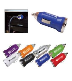 """Simply remove cigarette lighter from dashboard and replace with device. USB cable not included. ABS Plastic device with metal components. Mobile charger also features bright blue indicator light. Power supply / Technology: INPUT: 12-24 volts, OUTPUT: up to 5.0V/1,000mA. Certified CE and FCC.  2 1/4"""" W x 1"""" Diameter"""