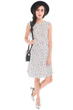 Breita Jellybean Dress - White | RUNWAY BANDITS