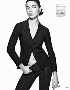 """A Modern Movement"" Adriana Lima by Tom Munro for Vogue Japan April 2014"