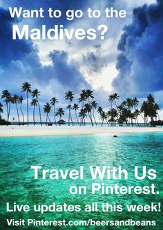 Have you ever wanted to travel to the Maldives? Come visit this island paradise LIVE with us this week! We'll be traveling to the Gili Lankanfushi island in the Maldives this week & posting our photos & travel tips live on Pinterest! If you've always longed to visit this series of 1,190 coral islands popping out of the Indian Ocean now is your chance -follow our live updates on Pinterest this week & if you have questions about this destination just leave a comment! ;) #GiliLankanfushi #Maldives