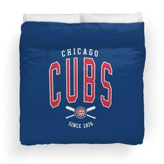 'Chicago Cubs Baseball Club' Duvet Cover by April Lilly Chicago Cubs Baseball, Baseball League, Jay, V Neck T Shirt, Duvet, Classic T Shirts, Club, Hoodies, Down Comforter