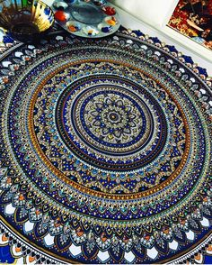 Elaborate Mandala Designs Gilded with Gold Leaf by Artist Asmahan Mosleh. CutPasteStudio  Illustrations, Entertainment, beautiful,creativity, Art,Artist, Artwork,Gold Leaf, mandalas, painting.