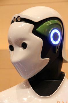 Detalle de la cabeza de Laia #robots #humanoides #robotica #Tecnonauta