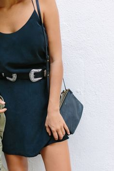 Belted slip dress | Pinterest: heymercedes