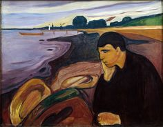'Melancholy', Oil On Canvas by Edvard Munch (1863-1944, Norway)
