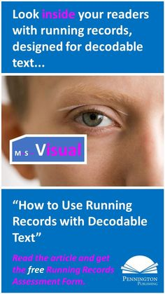 """Check out the article, """"How to Use Running Records with Decodable Text"""" and get the free running records assessment form, plus three decodable books designed for older readers from the author's Sam and Friends Guided Reading Phonics Books. Assessment For Learning, Reading Assessment, Guided Reading, Reading Comprehension, Phonics Books, Phonics Lessons, Response To Intervention, Reading Intervention, Running Records"""