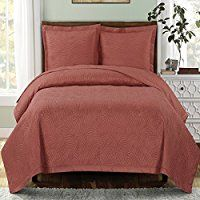 King size Emerson Coral Coverlet set, Luxury Embossed Print Quilted in Home & Garden, Bedding, Quilts, Bedspreads & Coverlets King Quilt Bedding, King Quilt Sets, Bed Quilts, Quilt Pillow, Twin Quilt, Pillow Set, California King Quilts, Coral Bedding, Luxury Bedding Sets