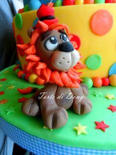 For circus cake Lion Cakes, Cake Decorating, Decorating Ideas, Fondant Cake Toppers, Cute Cakes, Gum Paste, Cake Art, Daily Inspiration, Amazing Cakes