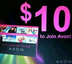 Earn Extra $$$.  Start your own Avon business for only $10!  go to www.start.youravon.com REF CODE: phodge  or for more information visit: phodge.avonrepresentative.com/opportunity.html
