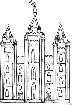 melonheadz lds illustrating i love to see the temple coloring page and salt lake city temple mais