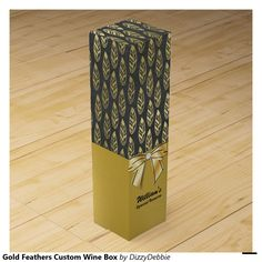 Gold Feathers Custom Wine Box