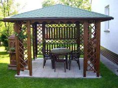 Altana drewniana Ewa 3000 x 3000 Garden Structures, Outdoor Structures, Backyard Gazebo, Dream Garden, My Dream, Woodworking, Exterior, Home, Wood Work