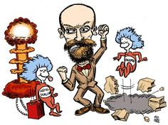 Emile Durkheim  [follow this link to find a bundle of clips, which are useful for elucidating the many ideas of Emile Durkheim: http://www.thesociologicalcinema.com/1/category/durkheim/1.html]  Artist: Kevin Moore (Find more of Kevin Moore's work at http://mooretoons.com/)