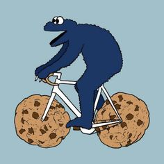 C is for Cookie AND Cycling!  Two of my favorite things!