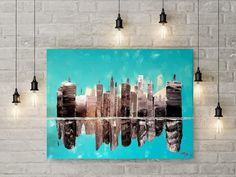 In the City. Insta Art, Acrylic Paintings, Abstract, Canvas, City, Artist, Inspiration, Design, Summary