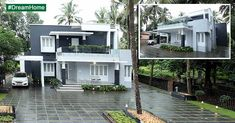 House Front Design, Exterior Design, House Plans, Contemporary, Mansions, Architecture, House Styles, Interior, Healthy Food
