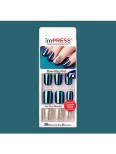 Colorful Nail Designs, Cool Nail Designs, Gel Manicure, Diy Nails, Popular Nail Art, Holographic Nails, Fabulous Nails, Accent Nails