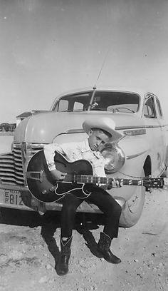 Little Doug outside his southside San Antonio home circa 1954