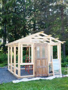Potting Station, Hillside Garden, Greenhouse Gardening, Gazebo, Architecture Design, Garden Design, Shed, Backyard, Outdoor Structures