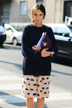 this parisian girl's quirky skirt is still available at Bloomies - click through to shop!