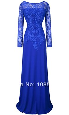 Angel Fashions 2014 Spring New Long Sleeves Lace See Through Evening Dress-in Evening Dresses from Apparel & Accessories on Aliexpress.com | Alibaba Group