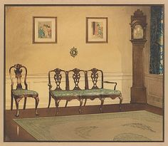 Design for drawing room interior  Louis Comfort Tiffany  (American, New York City 1848–1933 New York City)