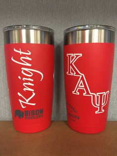 Kappa Alpha Psi Personalized Bison Tumbler / Made in America / You pick three decals / Nupes / Greek Letters / Fraternity by TheMonogramHouse on Etsy Fraternity Gifts, Kappa Alpha Psi Fraternity, Divine Nine, Bison, Decals, University, Cricut, Letters, America
