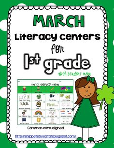 Kindergarten Literacy Centers for March