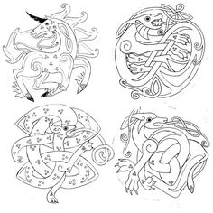 SciFi and Fantasy Art Celtic Animals for characters by Meg L. Celtic Symbols, Celtic Art, Celtic Knots, Celtic Patterns, Celtic Designs, Celtic Animals, Pyrography Patterns, Art Ancien, Motifs Animal