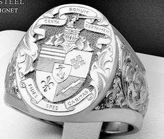 anel personalizado prata 950 de luxo