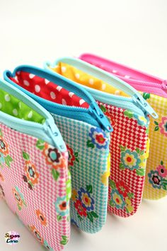 Pouch Petite ID Pocket Purse  Summer Picnic by SugarCane on Etsy, £8.50