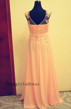 Prom dress Lace Prom Dresses Long Prom Dress Plus by PromTimes