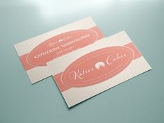 Dribbble - Katie's Cakes Business Cards by Monét Phillips