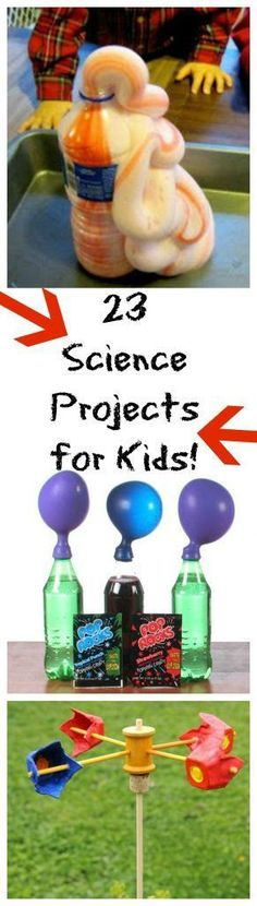 Science Projects for Kids Looking for more things to do this summer, while keeping cool? Check out these 23 kid-friendly science projects!Looking for more things to do this summer, while keeping cool? Check out these 23 kid-friendly science projects! Kid Science, Science Projects For Kids, Preschool Science, Science Fair, Crafts For Kids, Fair Projects, Summer Science, Science Party, Children Projects