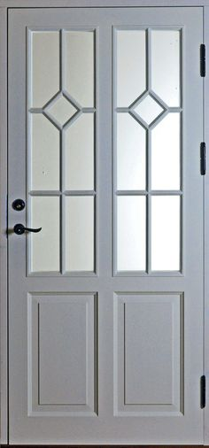 ED31 Dörrförslag 332, Spröjs 2 kryss | www.allmoge.se Us White House, House Trim, Internal Doors, Entrance Doors, Windows And Doors, Mudroom, Interior Decorating, New Homes, Inspiration