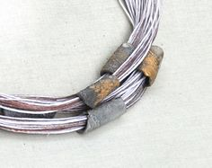 Statement Rope Necklace.  White Copper Necklace. by TanjaDesign, $49.00