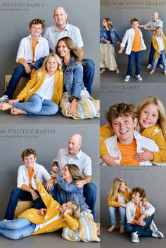 Trendy Yellow Color Pop for Family Photos