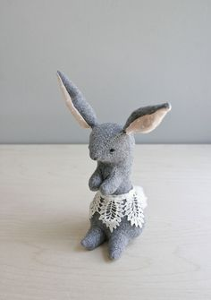 RESERVED a proper rabbit / soft sculpture animal by ohalbatross. $78.00, via Etsy.